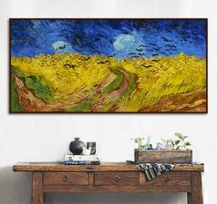 Wheatfield with Crows, Painting