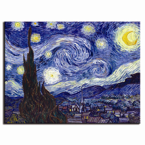 Starry Night, Painting-Paintings-Wantalo