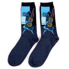 Art themed, Women Socks: The Old Guitarist