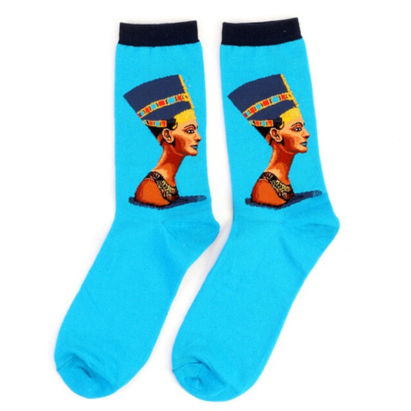 Art themed, Women Socks: Nefertiti-Socks-Wantalo