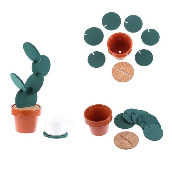 Cactus Coasters Set-Tableware-Wantalo