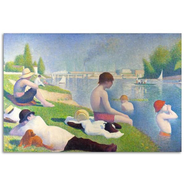 Bathers at Asnières Wall Painting-Paintings-Wantalo