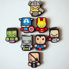 Superheroes Cute Magnets Set