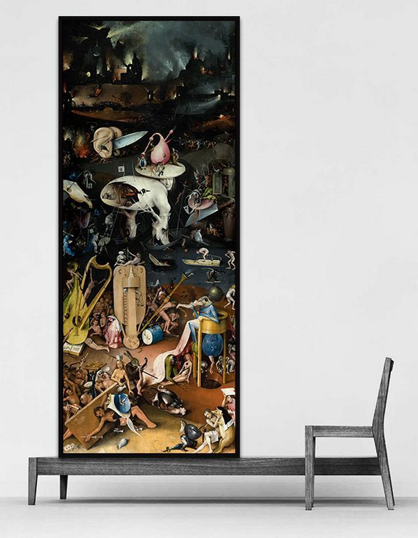 Hell Panel, Wall Art Canvas (The Garden of Earthly Delights)-Paintings-Wantalo