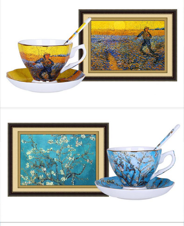 Van Gogh Tea Cups and Saucers-Tea & Coffee-Wantalo