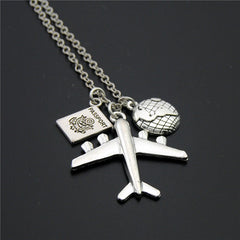 Passport Pendant Necklace