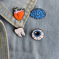 Body Parts Enamel Pins