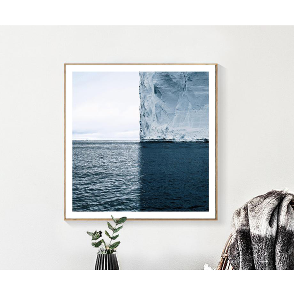 Antarctica Iceberg, Photo Painting-Paintings-Wantalo