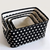 Black Fabric Storage Basket