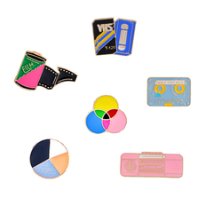 80s Icons Enamel Pins