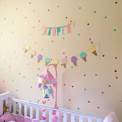 Small Dots Wall Decals 72 pcs