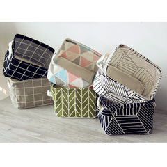 Elegant and Minimal Fabric Storage Baskets
