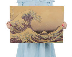 Hokusai's Great Wave Poster