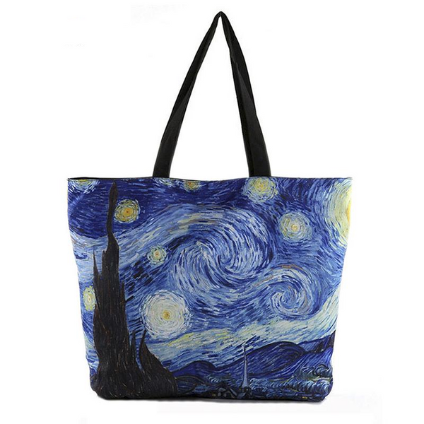 Starry Night Tote Bag-Bags-Wantalo