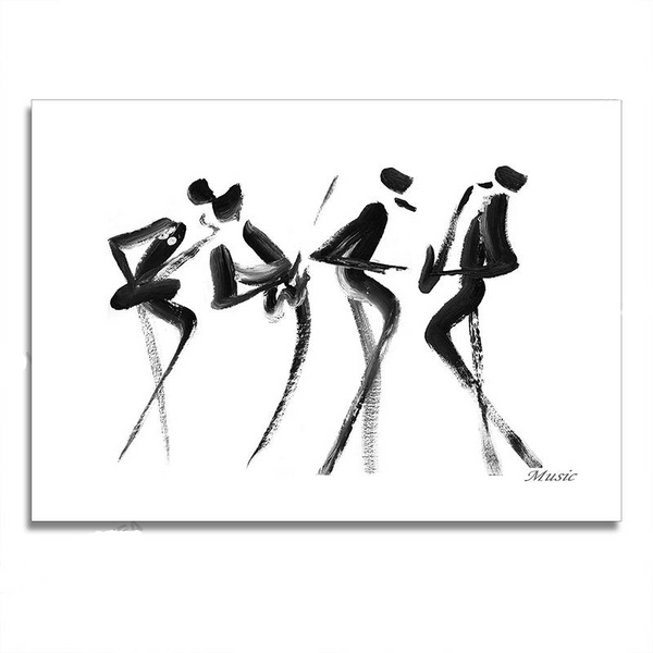 Minimalist Jazz Band Painting-Paintings-Wantalo