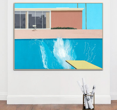 A bigger Splash, Painting