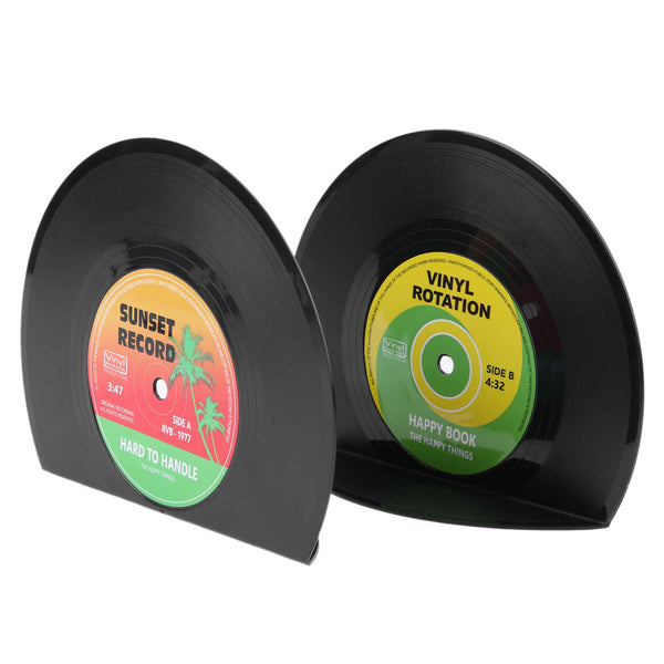 Vinyl Record Bookends-Storage Solutions-Wantalo