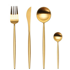 Cutlery Set: Gold
