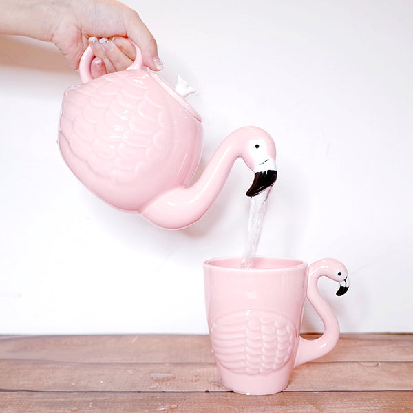 Rare Flamingos Teapot and Mug - wantalo.com
