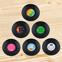 Vinyl Record Coasters Set