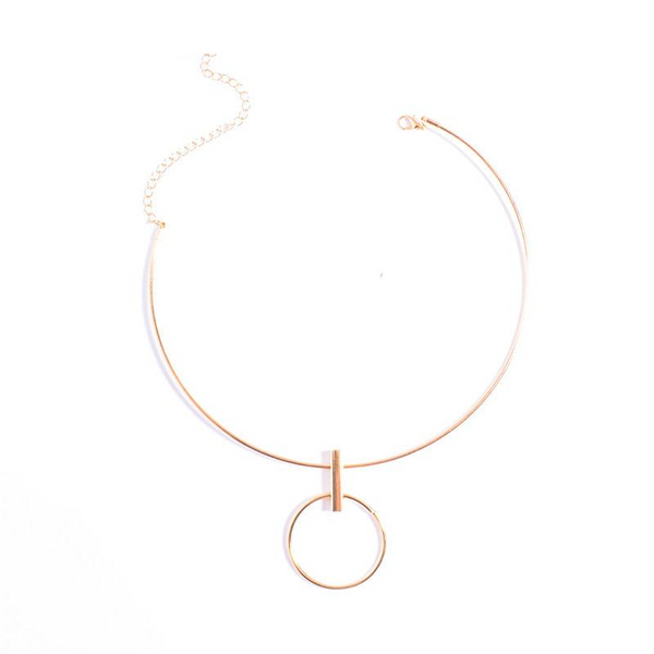 Big Circle Necklace-Necklaces-Wantalo