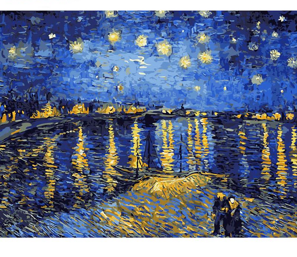 Starry Night Over the Rhône, Paint by Numbers Kit-Paintings-Wantalo