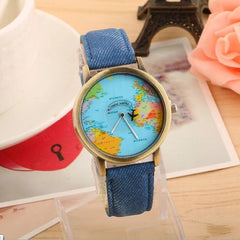Mini World Map Quartz Watch