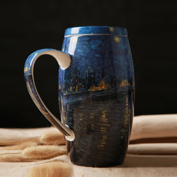 Starry Night Over the Rhône Mug with lid