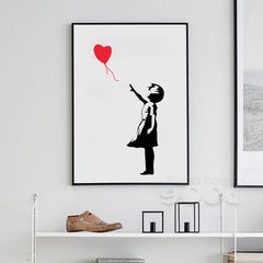 Balloon Girl, Painting