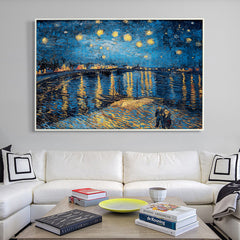 Starry Night over the Rhône, Painting