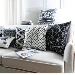 Black&White Geometrical Pillowcases