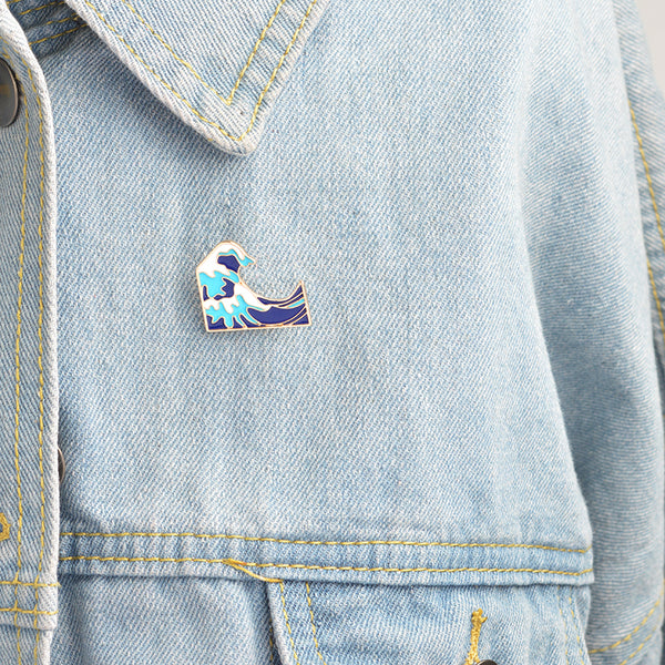 The Great Wave Enamel Pin-Pins & Patches-Wantalo