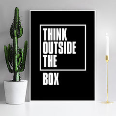 Think outside the box, Motivational Painting