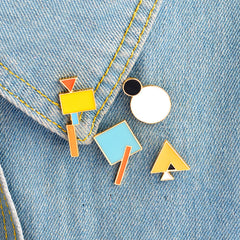 Geometry Enamel Pins Set