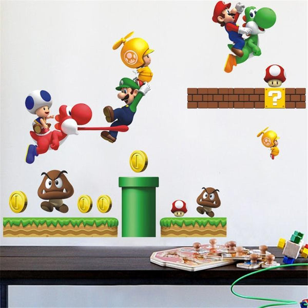 Super Mario Bros Wall Sticker-Wall Stickers-Wantalo