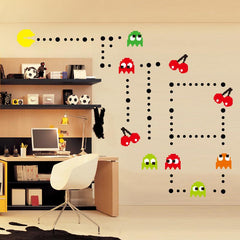 Pacman Wall Stickers Set