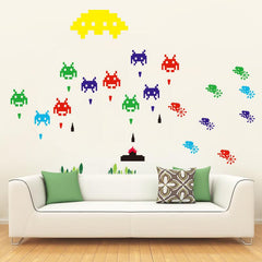 Space Invaders Wall Stickers Set