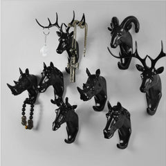 Animals Wall Hooks - Black