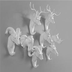 Animals Wall Hooks - White