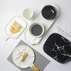 Marble Design Ceramic Tray