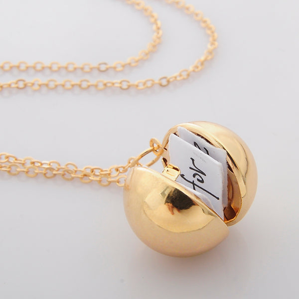 Secret Message Locket Necklace-Necklaces-Wantalo