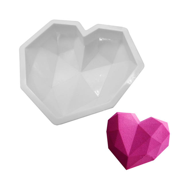 Diamond Love 3D Cake Mold-Kitchen Tools-Wantalo