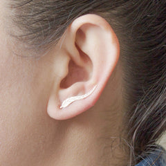 Ear climber Leaf Earrings