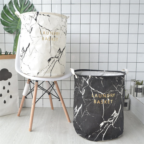 Marble Design Laundry Basket-Storage Solutions-Wantalo