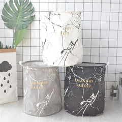 Marble Design Laundry Basket