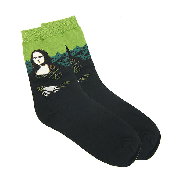 Art themed, Women Socks: Mona Lisa-Socks-Wantalo