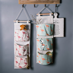 Flamingos Hanging Storage Bags