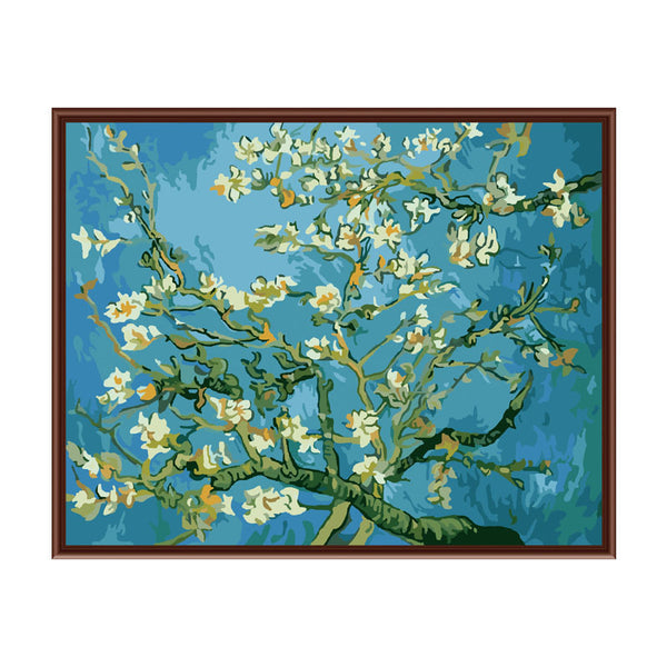 Almond Blossoms Paint by Numbers Kit-Paintings-Wantalo