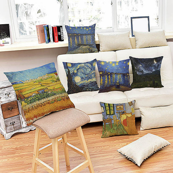 Starry Night Over the Rhône, Decorative Pillowcase-Pillows-Wantalo