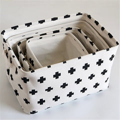 White Fabric Storage Basket